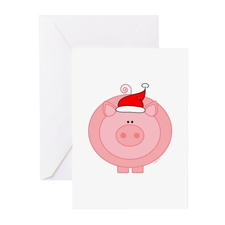 Holiday Pig Greeting Cards (Pk of 10)