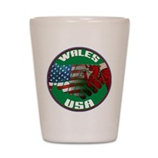 Wales USA Friendship Shot Glass