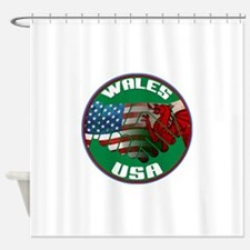 Wales USA Friendship Shower Curtain
