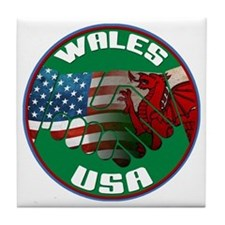 Wales USA Friendship Tile Coaster