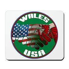 Wales USA Friendship Mousepad