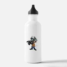 Zombie Camera Man Pitt Water Bottle