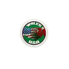 Wales USA Friendship Mini Button