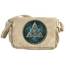 Norse Valknut - Blue Messenger Bag
