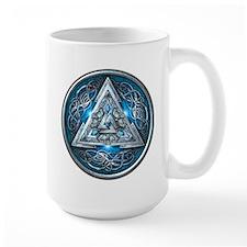 Norse Valknut - Blue Mug