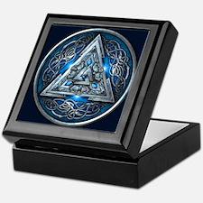 Norse Valknut - Blue Keepsake Box