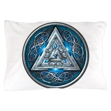 Norse Valknut - Blue Pillow Case