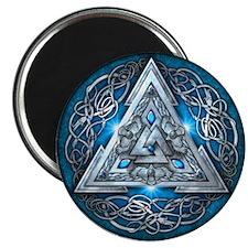 "Norse Valknut - Blue 2.25"" Magnet (10 pack)"