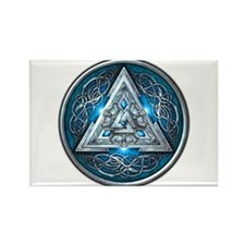 Norse Valknut - Blue Rectangle Magnet
