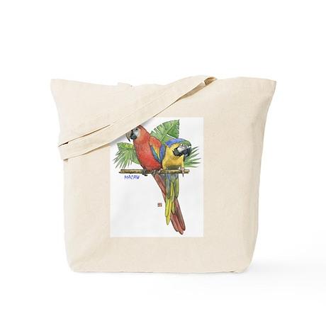 Tropical Macaws Tote Bag
