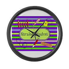 Nursing Student Large Wall Clock