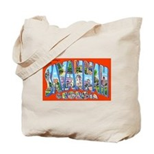 Savannah Georgia Greetings Tote Bag