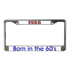1966 40 40th License Plate Frame