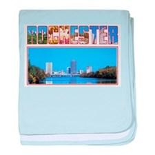 Rochester New York Greetings baby blanket