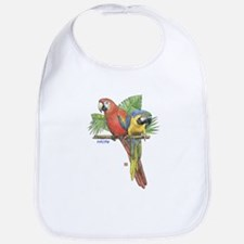 Tropical Macaws Bib