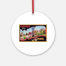 Rochester Minnesota Greetings Ornament (Round)