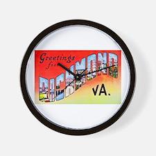 Richmond Virginia Greetings Wall Clock