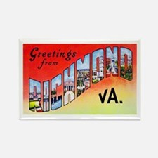 Richmond Virginia Greetings Rectangle Magnet