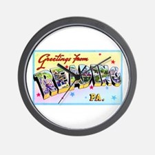 Reading Pennsylvania Greetings Wall Clock