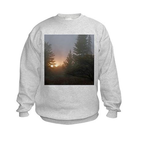 Misty mornings Kids Sweatshirt