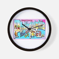 Philadelphia Pennsylvania Greetings Wall Clock