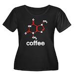 Coffee Women's Plus Size Scoop Neck Dark T-Shirt