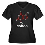 Coffee Women's Plus Size V-Neck Dark T-Shirt