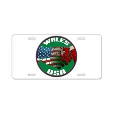 Wales USA Friendship Aluminum License Plate