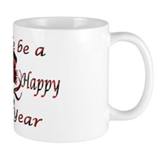 Red tartan thistle new year Mug