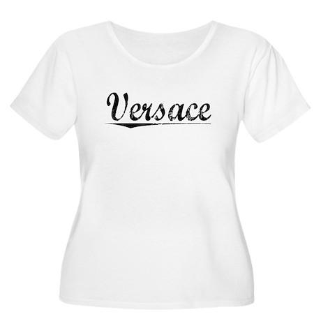 Versace, Vintage Women's Plus Size Scoop Neck T-Sh