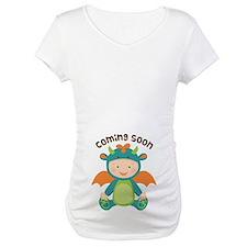 Dragon Baby Belly Print Maternity Shirt