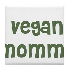 vegan mommy Tile Coaster