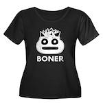 Boner Women's Plus Size Scoop Neck Dark T-Shirt