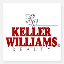 "Keller Williams Square Car Magnet 3"" x 3"""