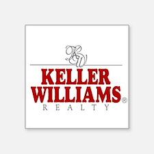 "Keller Williams Square Sticker 3"" x 3"""