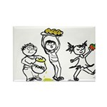 Apples & Honey Kids Jewish New Year Rectangle Magn