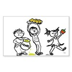 Apples & Honey Kids Jewish New Year Sticker (Recta