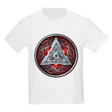 Norse Valknut - Red T-Shirt