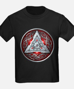 Norse Valknut - Red T
