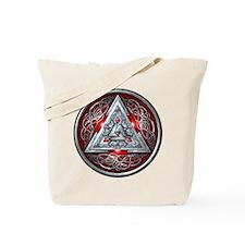 Norse Valknut - Red Tote Bag