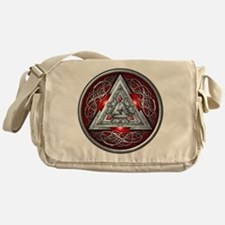 Norse Valknut - Red Messenger Bag