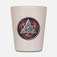 Norse Valknut - Red Shot Glass