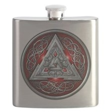 Norse Valknut - Red Flask