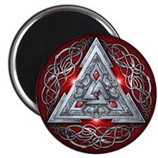 """Norse Valknut - Red 2.25"""" Magnet (10 pack)"""