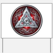 Norse Valknut - Red Yard Sign