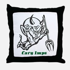 Cary Imps B/W Throw Pillow