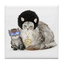 Ghetto Kitty Tile Coaster