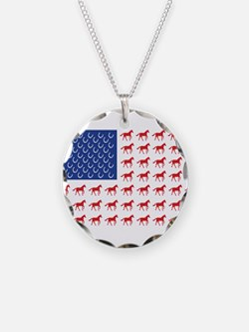 Patriotic Horses USA Necklace