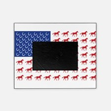 Patriotic Horses USA Picture Frame