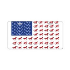Patriotic Horses USA Aluminum License Plate